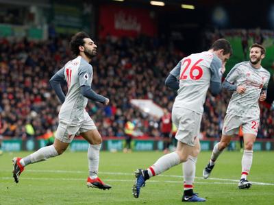 Triplete de Salah en triunfo de Liverpool
