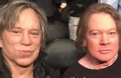 La foto de Mickey Rourke y Axl Rose que desató una lluvia de memes en las redes sociales