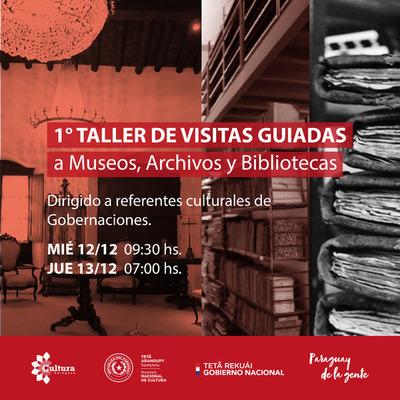 Visitas guiadas a museos, archivos y bibliotecas inician este miércoles