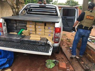 Senad decomisa más de 1.000 kilos de marihuana en Capitán Bado