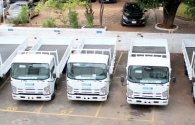 Essap recibe nuevos camiones 0 km para fortalecer capacidades de trabajo