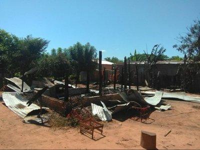 Presunto drogadicto quemó la casa de su padre