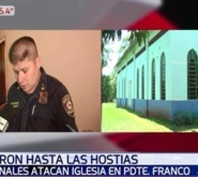 Malvivientes vacían capilla en Presidente Franco