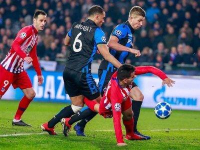 El Atlético cede el primer puesto ante Brujas