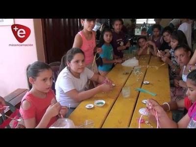 COLONIA DE VACACIONES: ORGANIZAN ACTIVIDADES PARA NIÑOS EN EL CENTRO VIVO PACU CUA