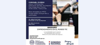 MITIC organiza seminario sobre emprendimiento en el mundo de TIC – Prensa 5