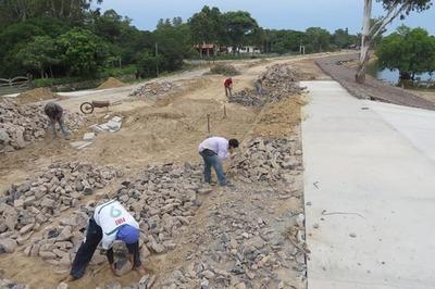 Avanza la construcción de la costanera en Villa Florida Misiones