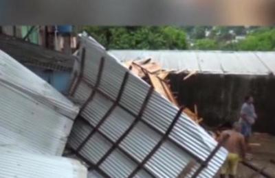 Destrozos tras temporal en Ciudad del Este