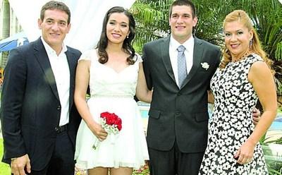 Se casó Carlitos Gamarra, hijo del Colorado Gamarra.