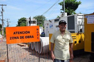 MOPC interviene en la avenida Artigas