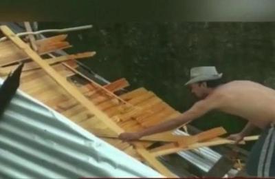 Un voraz temporal afectó varias viviendas en Ciudad del Este
