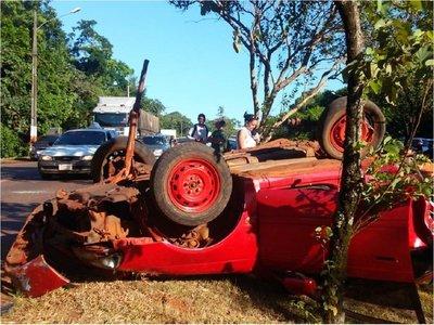 Accidente con derivación fatal en Hernandarias