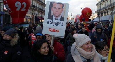 """Los sindicatos franceses piden un """"día de acción"""" en París"""