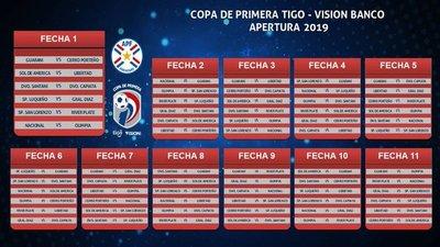 Divulgan fixture de torneos Apertura y Clausura