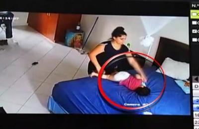 Niñera maltrata a menor de 2 años