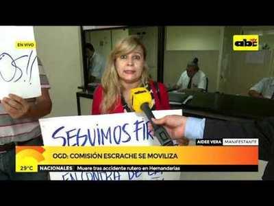 OGD: Comisión escrache se moviliza