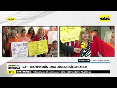 Ratifican prisión para los González Daher