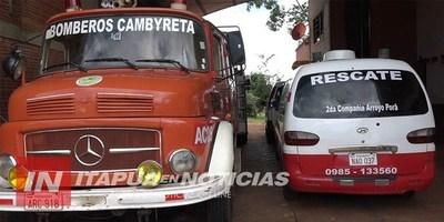 BOMBEROS DE CAMBYRETA ANUNCIAN COLECTA SOLIDARIA PARA ESTE DOMINGO