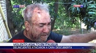 HOY / Un asaltado más: 'Me golpeaban la cabeza con la culata, les pedía   por favor que no me maten'