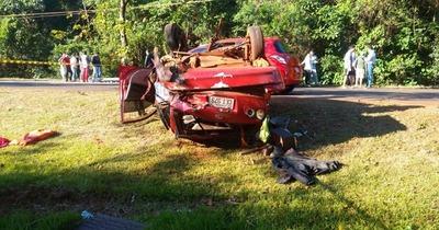 Mortal accidente sobre la supercarretera en Hernandarias