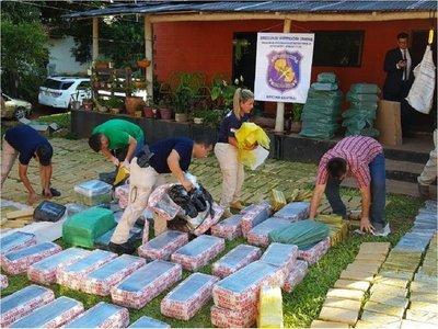 Incautan dos toneladas de marihuana en Areguá