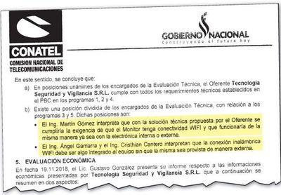 Conatel adjudicó a firma que no cumplía con PBC