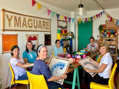 Culmina exitosamente el taller de Ñandutí en Asunción Ymaguare