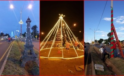 Adorno navideño en la Avenida Perú gracias a vecinos