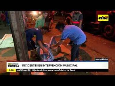 Incidentes en intervención municipal