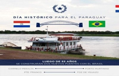 Paraguay y Brasil suscriben acuerdo para la construcción de dos puentes