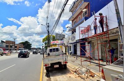 Comerciantes vuelven a la Ruta Mcal. Estigarribia