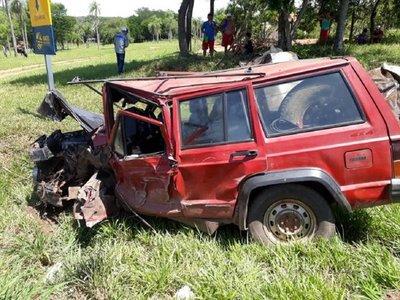 Confirman la muerte de uno de los conductores en accidente de Caacupé
