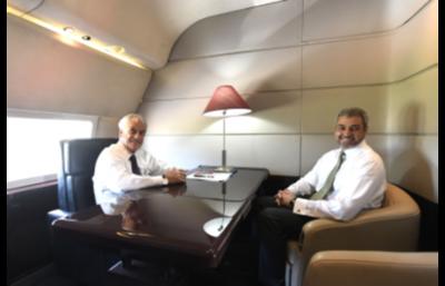 Mario Abdo resalta diálogo sobre integración, energía y comercio en encuentro con su homólogo Sebastián Piñera