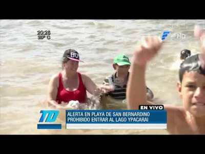 Bahía de Asunción y Lago Ypacaraí no son aptos para bañistas