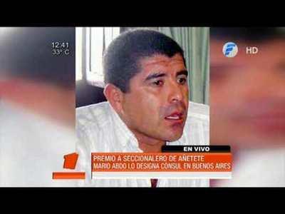 Mario Abdo premia a seccionalero de Añeteté
