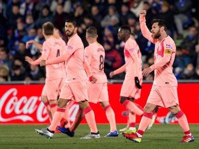 Barcelona sufre, pero se lleva la victoria ante Getafe