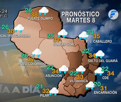 Para hoy lluvias y ambiente caluroso