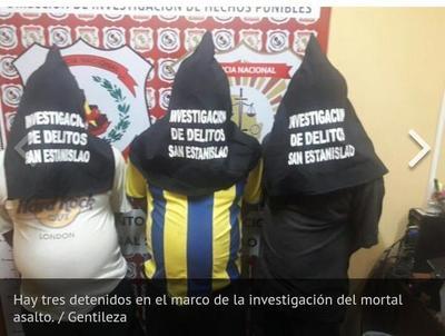 Detenidos por mortal asalto a comprador de mandioca