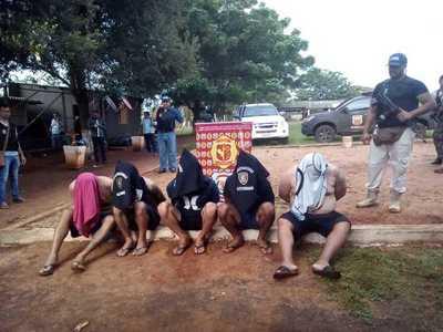 Detienen a miembros del PCC en Minga Guazú