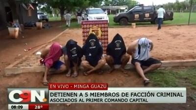 Capturan a miembros de grupo criminal brasileño en Minga Guazú