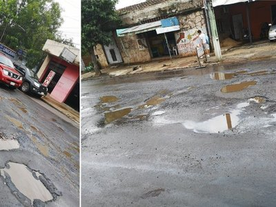 San Lorenzo llena de baches: la Muni culpa a Essap y MOPC