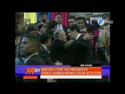 Venezuela con dos presidentes
