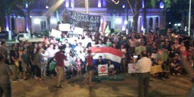 Guaireños también protestaron contra deforestación del Chaco