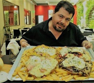 El paraguayo campeón de las milanesas de ashá