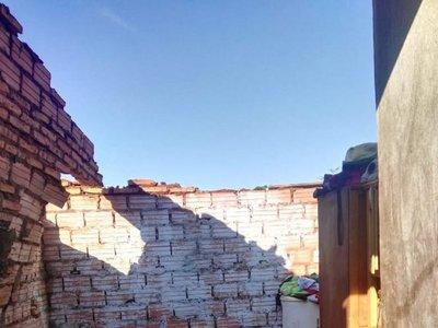 Temporal destechó varias viviendas en Ypané