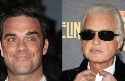Guerra de vecinos: Robbie Williams 'tortura' a Jimmy Page con música de Black Sabbath
