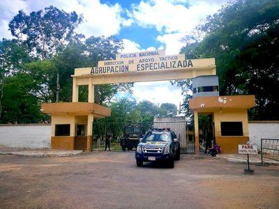 Cuatro internos de la Agrupación Especializada fueron trasladados a Tacumbú