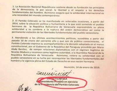 """ Venezuela está siendo usurpada por Maduro"""