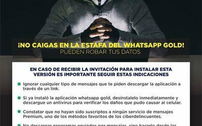 Ministerio del Interior advierte que WhatsApp Gold roba datos de usuarios