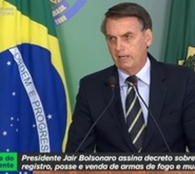 Bolsonaro facilita la tenencia de armas de fuego